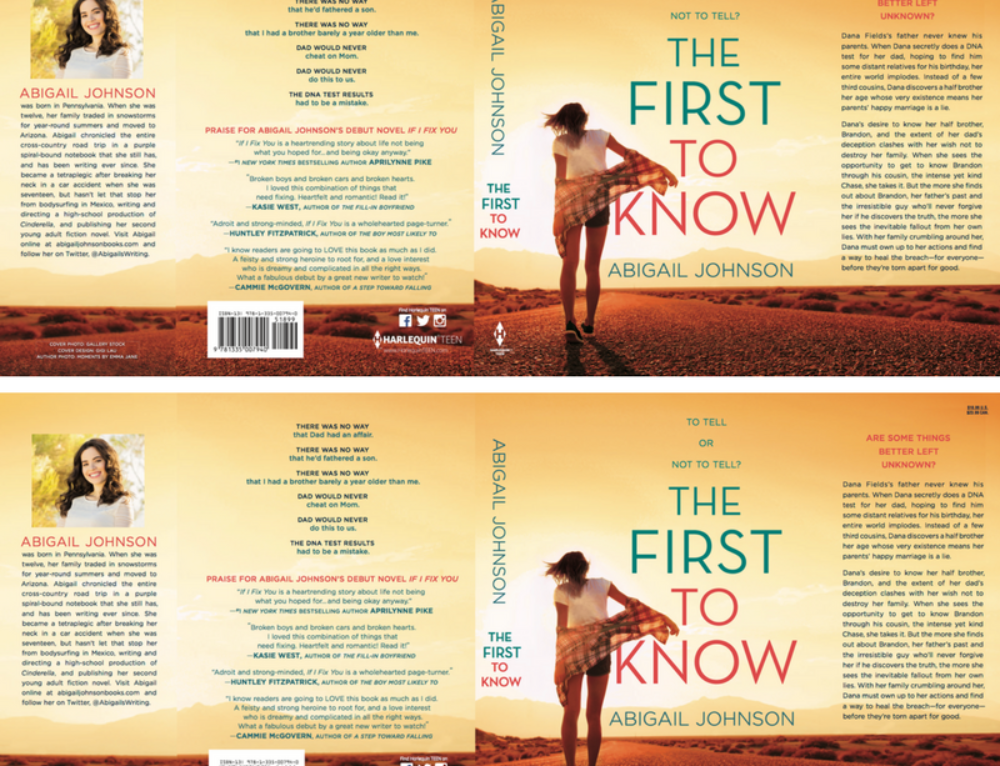 Full dustjacket for The First To Know!